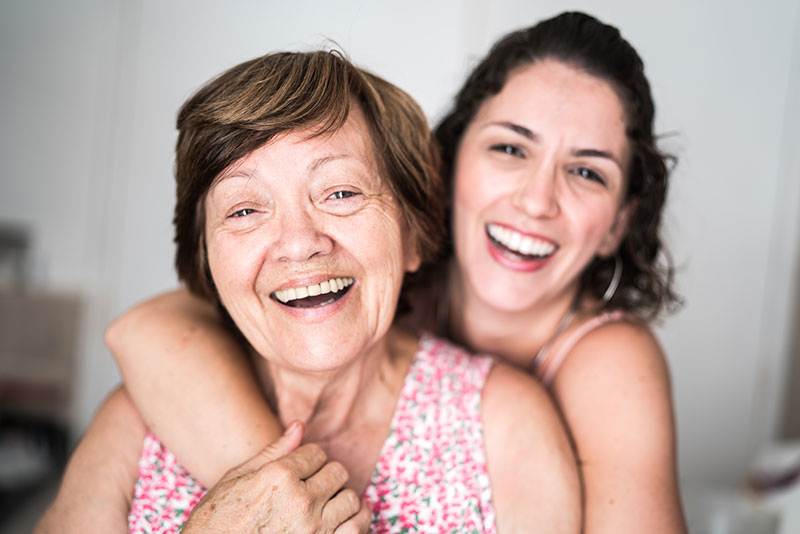 mother and daughter in-home care